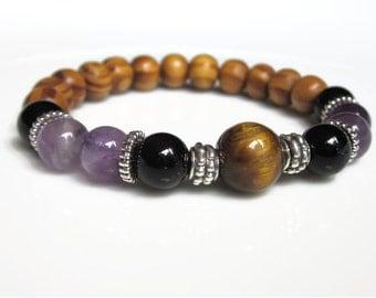Healing addictions bracelet, strength bracelet, Sobriety bracelet, good energy sentiment bracelet, strength jewellery