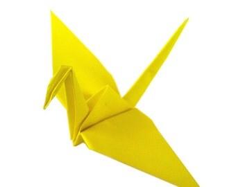 Yellow Peace Birds   50 count   Japanese Peace Cranes   Paper Cranes   Origami Cranes