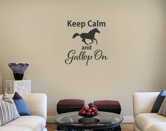 Keep Calm and Gallop On vinyl wall sticker decal