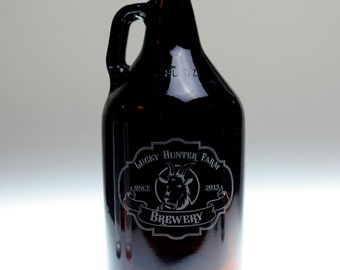 Whimsical Animal Focused custom beer growler,homebrew,home brew,dad,father,uncle,christmas,holiday,fathers day, beer,fathers day gift