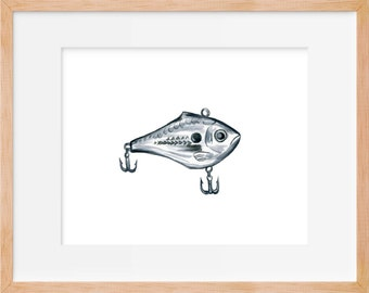 Fishing Lure 103 Print Hook Fishing Decor Fishing Print Hunting And Fishing