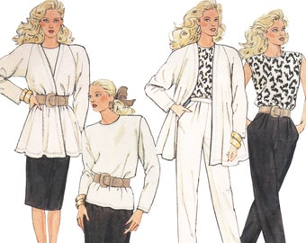 Misses Separates Pattern Jacket Skirt Blouse and Pants Vintage 1980s Sewing Pattern McCalls 3372 Bust 36 38 UNCUT