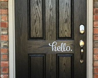 Hello Door Decal Hello Vinyl Decal Front Door Decal Hello Decal Hello Vinyl Lettering Front Door Vinyl Hello Decal Door Vinyl Decal