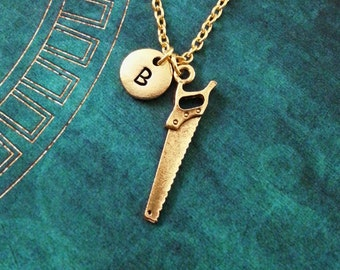 Saw Necklace SMALL Handsaw Necklace Repairman Gift Husband Gift Boyfriend Gift Dad Necklace Dad Jewelry Father's Day Necklace Carpenter Gift