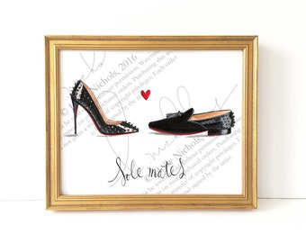 Sole Mates (Fashion Illustration Print)
