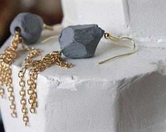 Gold Tassel Bead Earrings