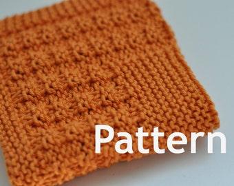 Washcloth / Dishcloth Knitting PATTERN - Boxed In