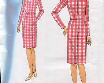 Vogue 1004 Misses Shell Dress Sewing Pattern Fitted Bodice Straight Skirt Size 10 Bust 32.5 UNCUT