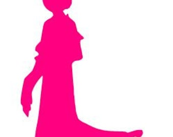 Disney Princess MULAN SILHOUETTE Vinyl Decal Sticker Car Window Laptop Wall Choose Size and Color