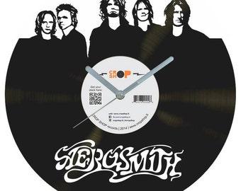 Aerosmith vinyl clock