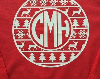 Aztec Christmas Monogram Shirt