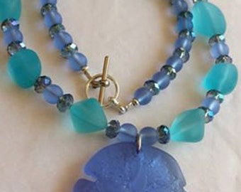 Sea Glass Sea Dollar Necklace