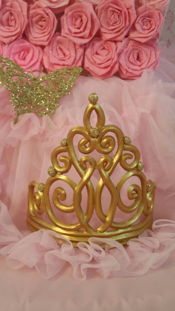Tiara Cake Topper Crown Cake Topper Gold By