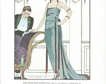 Who Could Help Loving You, Bon Ton Parisienne Fashion From 1912-1925, Fine Art Print, Book Plate, Wall Decor, Fashion Lovers BT1