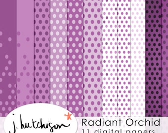 Commercial Use Instant Download Radiant Orchid Digital Paper for scrapbook, clipart, DIY paper & printables - instant download