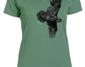 Raven ladies v-neck t-shirt