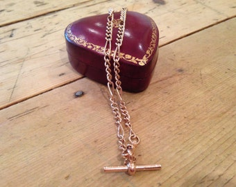 A 9k Rose Gold Victorian Watch Chain