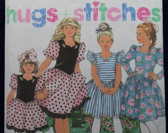 Sewing Pattern for a Child's Party Dresses for Age 7-14 - Simplicity 7077