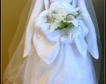 Bridal Shower Gift Bridal Shower Centerpiece Bride made of all Towels Wedding Shower Gift Wedding Gift Bridal Shower Decor