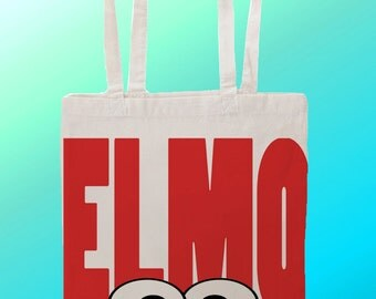 Elmo Sesame Street - Reuseable Shopping Cotton Canvas Tote Bag