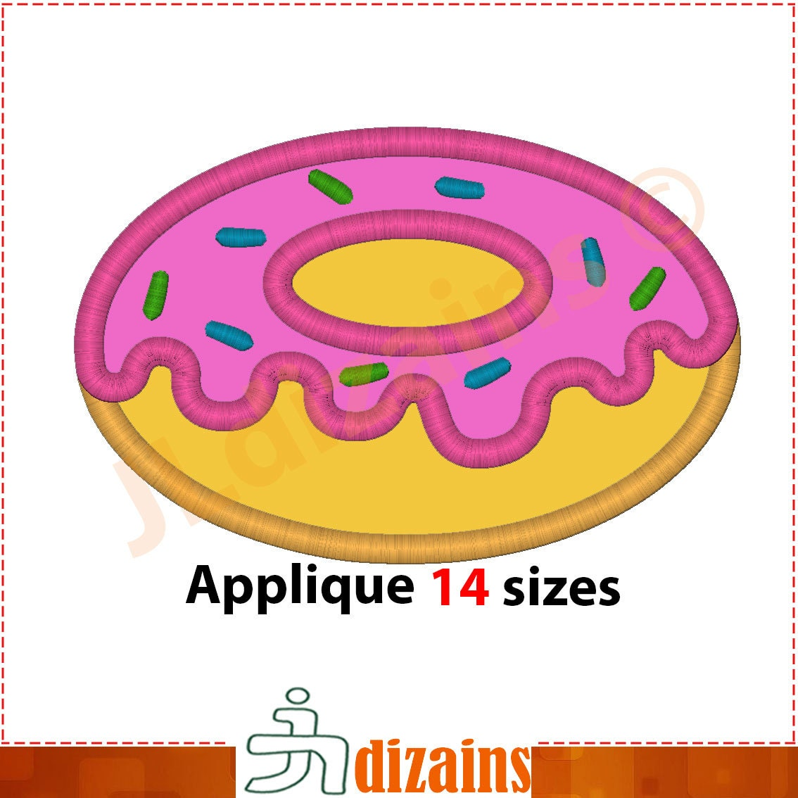 doughnut applique design doughnut embroidery design donut. Black Bedroom Furniture Sets. Home Design Ideas