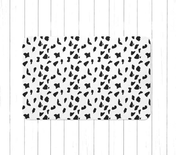 Black N White Bathroom: Dalmatian Spots Black N White Rug Or Bath Mat Children's