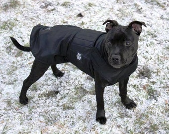 Winter Dog Coat - Warm Dog Jacket - Custom Dog Raincoat - Waterproof / Fleece Coat - Custom made - MADE TO ORDER