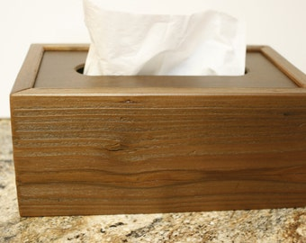 Wooden Tissue Box Etsy