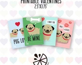 Pug valentine  Etsy