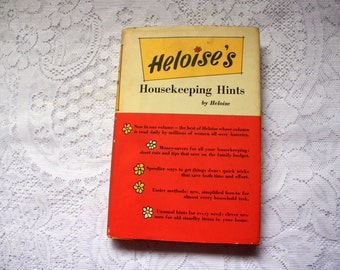 Heloise's Housekeeping Hints - first edition -  housekeeping problems - vintage cleaning, vintage kitchen book