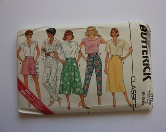 Misses shorts, pants, skirt and culottes, UNCUT pattern Butterick 3710