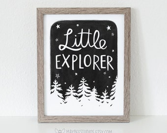 Little Explorer Printable, Little Explorer Wall Art, Nursery Wall Art, Little Explorer Nursery