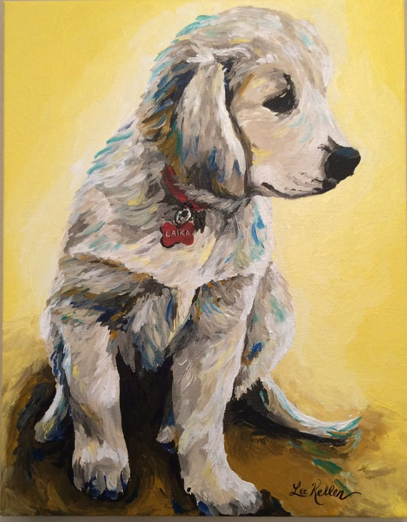 custom pet painting custom dog painting by hippiehoundusa
