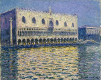 The Doges Palace by Claude Monet, in various sizes, Giclee Canvas Print