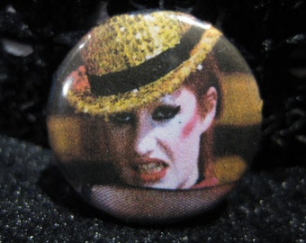 Columbia, pinback, button, pin, rocky, horror, picture, show, movie, musical, nell, campbell, 1 inch