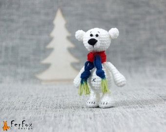 Polar bear, stuffed bear, teddy bear, winter holiday gift, amigurumi bear - Dan the Polar Bear
