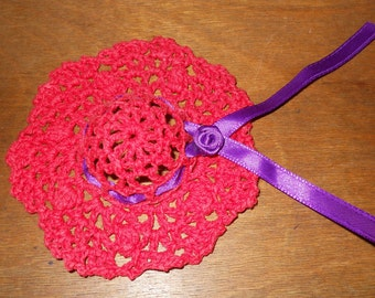 RED HAT SOCIETY Crochet Hat Ornament