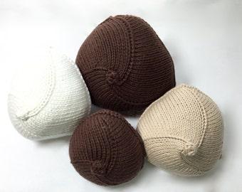 Knitties  (aka Knitted Knockers) breast prosthetic