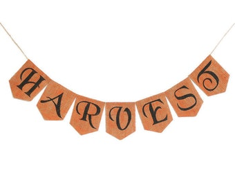 HARVEST BANNER Holiday Decor Happy Halloween Decor Halloween Bunting Halloween Garland Banners and Signs Photo Prop Spooky Banner