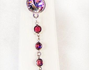 SWAROVSKI AMETHYST BRACELET, amethyst crystal, amethyst crystal jewelry, amethyst channel links, crystal amethyst rivoli,toggle clasp - 1359