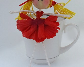 ballerina doll, dancer,flower fairy doll, bendy doll, little doll