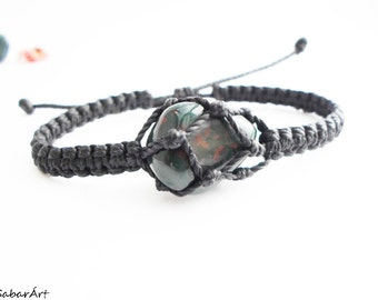 Bloodstone bracelet, man's bracelet, gift for him, Blood stone bracelet, Bloodstone jewelry, bloodstone, chakra jewelry
