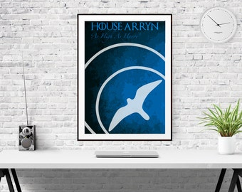 House Arryn Sigil - As High As Honor - Game of Thrones Poster Print (Available In Many Sizes)
