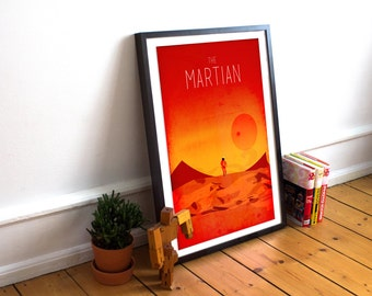 The Martian Minimalist Movie Poster - Alternative Poster - Mark Watney - Andy Weir - Matt Damon (Available in many sizes)
