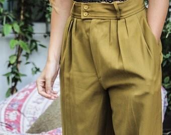 Vintage Olive Crust Pants