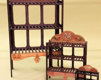 """Baker's Rack 1"""" Scale Kit - with Rooster Motif"""