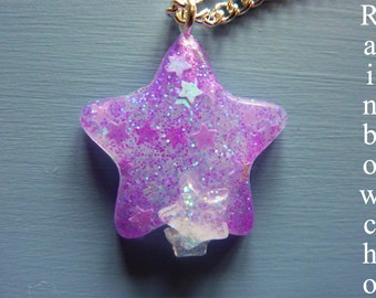 Pendant: 3 small stars in resin