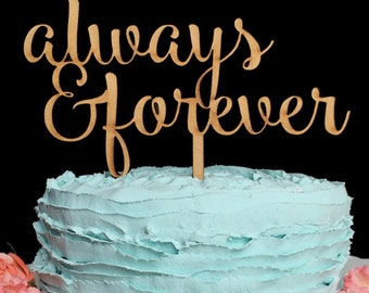 Always & Forever Wedding Cake Topper, Always and Forever, Wedding Cake Topper, Cake Topper, Cake Topper Wedding, Custom Cake Topper, Always