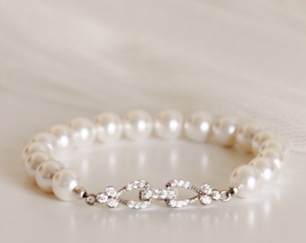 Bridal Bracelet Pearl Wedding Jewelry Bridesmaid Gift Bridesmaid Bracelet Swarovski Pearl Bracelet Bridal Jewelry Bridal Party Gifts