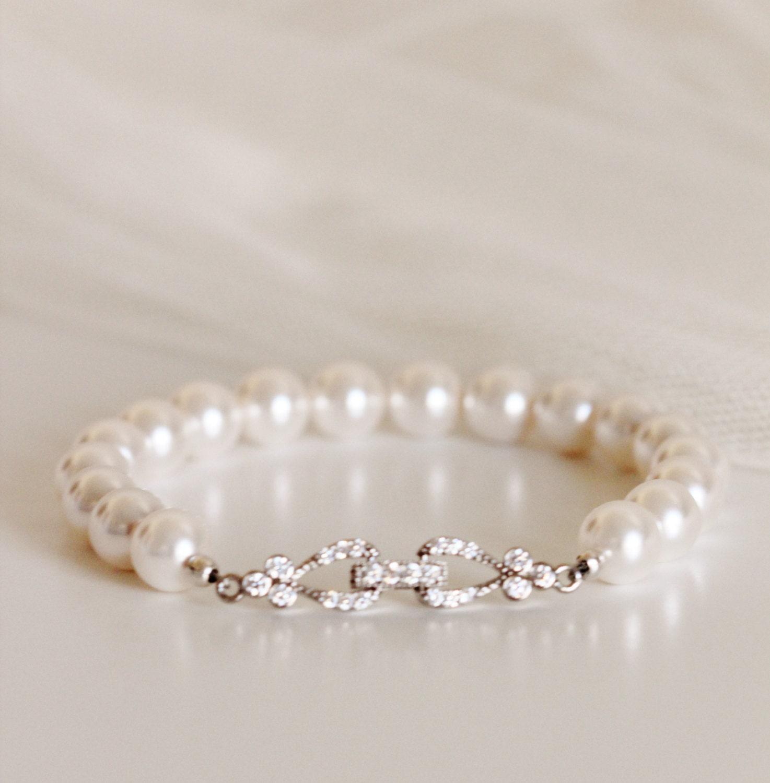 Bridal Bracelet Pearl Wedding Jewelry Bridesmaid Gift Bridesmaid Bracelet Swarovski Pearl Bracelet Bridal Jewelry Bridal Party Gifts